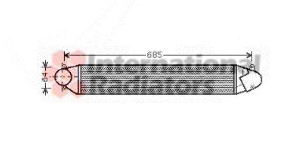 Intercooler, échangeur - VAN WEZEL - 58004248
