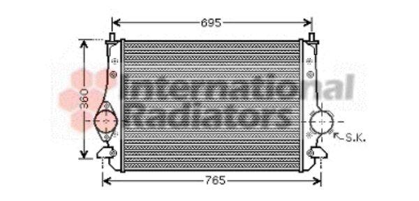 Intercooler, échangeur - VAN WEZEL - 58004251
