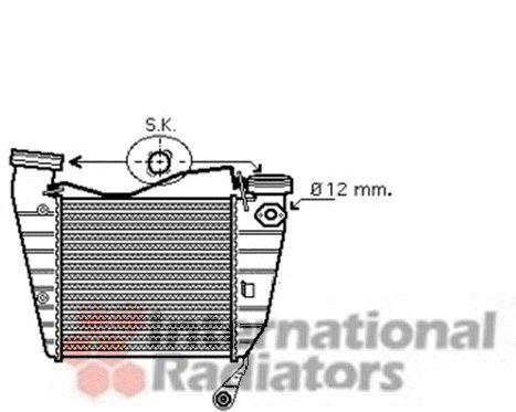 Intercooler, échangeur - VAN WEZEL - 58004253