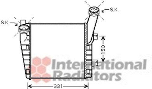 Intercooler, échangeur - VAN WEZEL - 58004263