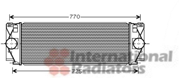 Intercooler, échangeur - VAN WEZEL - 58004267