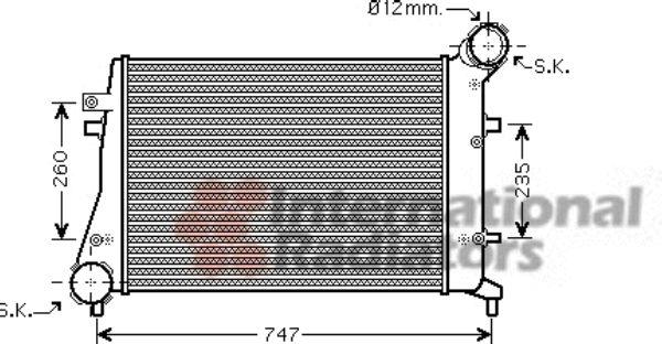 Intercooler, échangeur - VAN WEZEL - 58004268