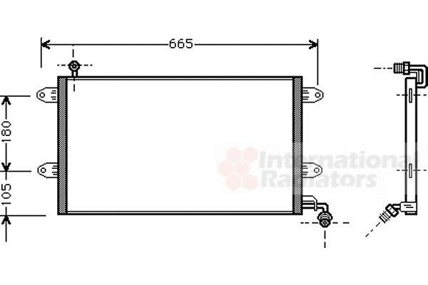 Condenseur, climatisation - VAN WEZEL - 58005137