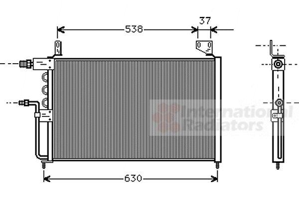 Condenseur, climatisation - VAN WEZEL - 58005138