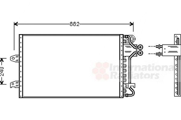Condenseur, climatisation - VAN WEZEL - 58005140
