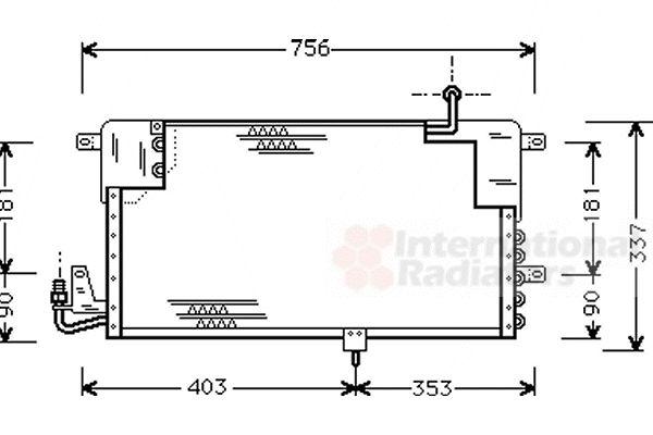 Condenseur, climatisation - VAN WEZEL - 58005141