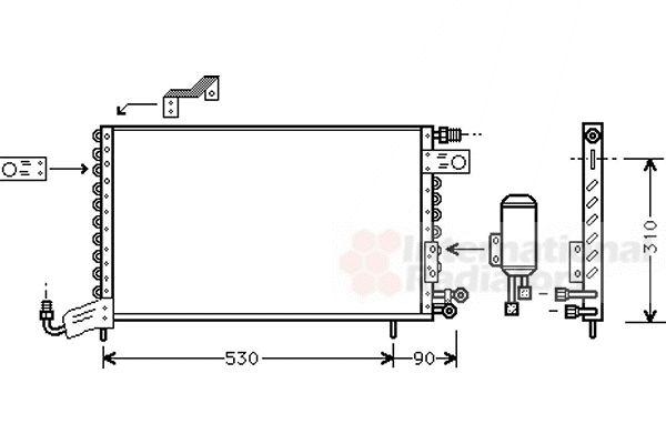 Condenseur, climatisation - VAN WEZEL - 58005142
