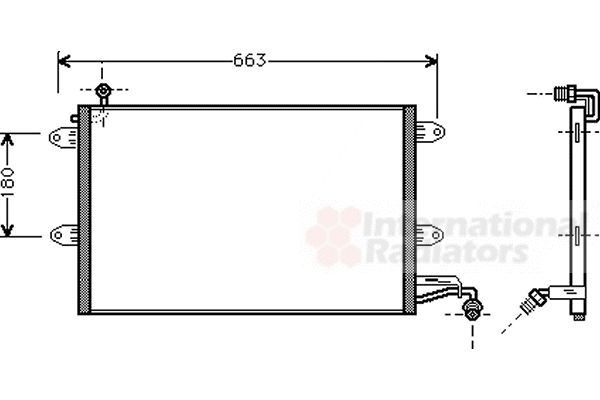Condenseur, climatisation - VAN WEZEL - 58005143