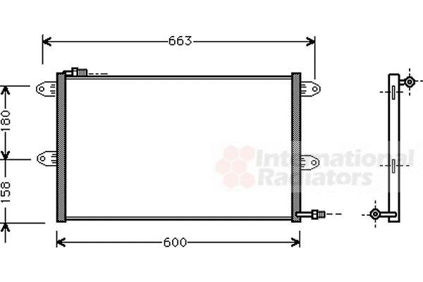 Condenseur, climatisation - VAN WEZEL - 58005144