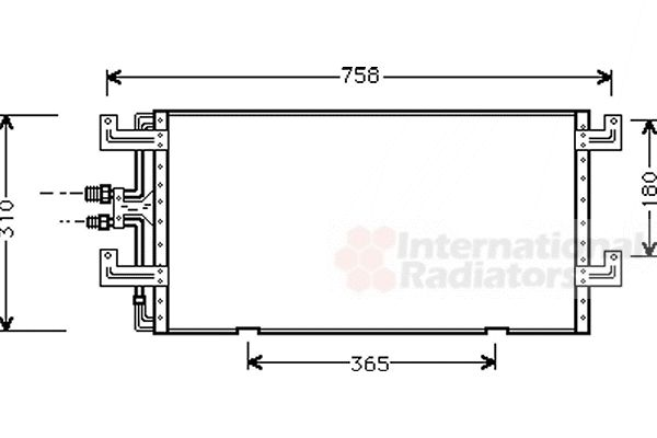 Condenseur, climatisation - VAN WEZEL - 58005145
