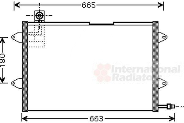 Condenseur, climatisation - VAN WEZEL - 58005146