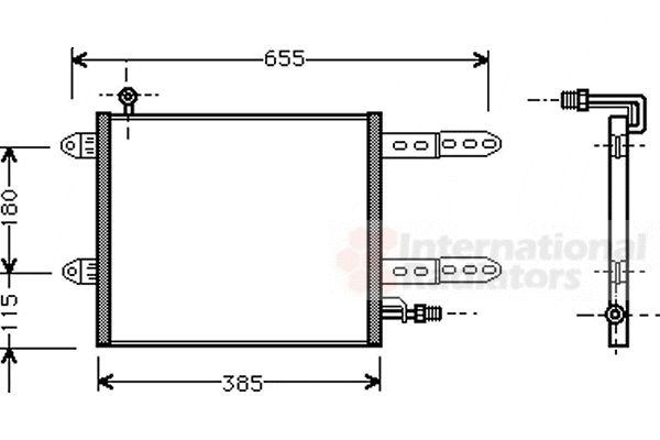 Condenseur, climatisation - VAN WEZEL - 58005150
