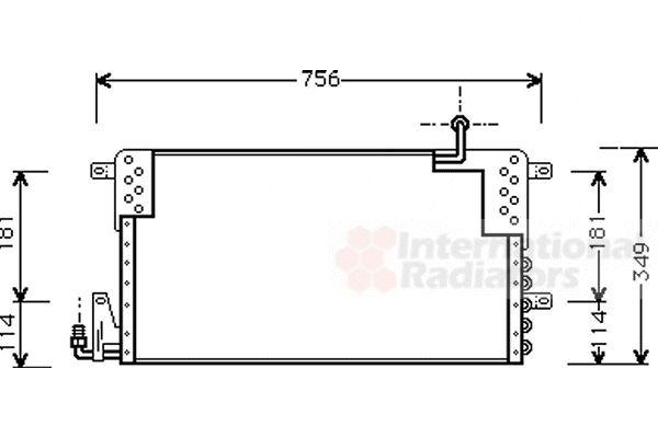 Condenseur, climatisation - VAN WEZEL - 58005161
