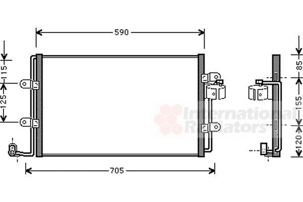 Condenseur, climatisation - VAN WEZEL - 58005176