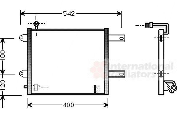 Condenseur, climatisation - VAN WEZEL - 58005177