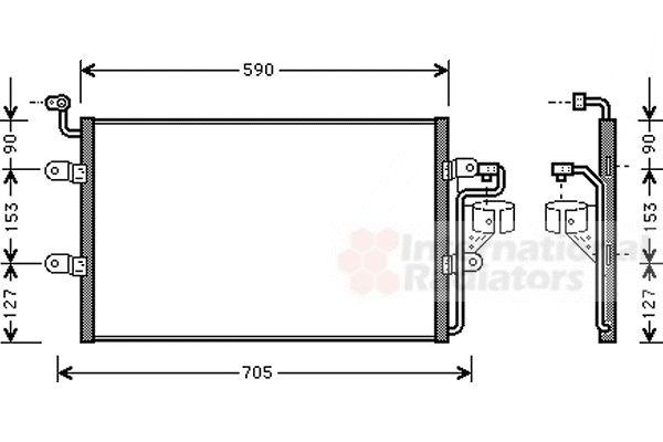 Condenseur, climatisation - VAN WEZEL - 58005181