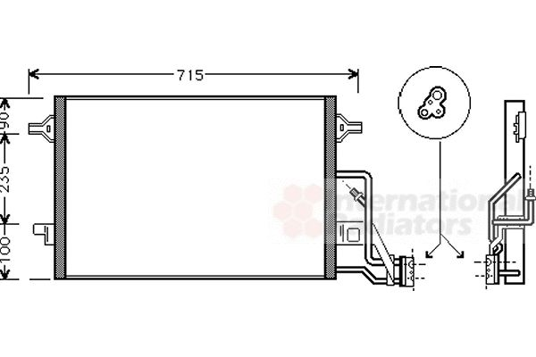 Condenseur, climatisation - VAN WEZEL - 58005189