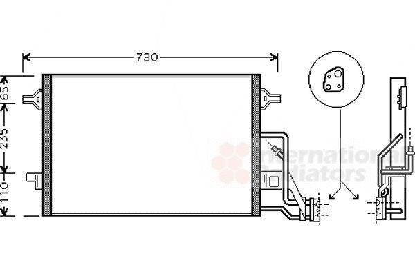 Condenseur, climatisation - VAN WEZEL - 58005190