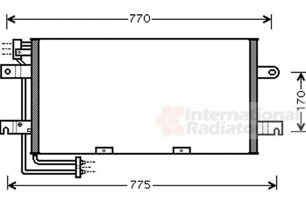 Condenseur, climatisation - VAN WEZEL - 58005195