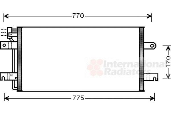 Condenseur, climatisation - VAN WEZEL - 58005197