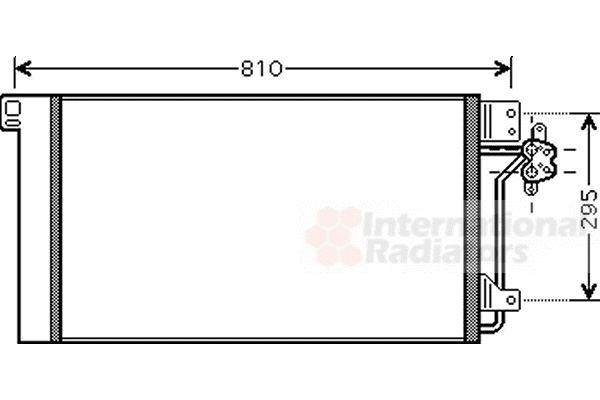 Condenseur, climatisation - VAN WEZEL - 58005236