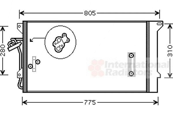 Condenseur, climatisation - VAN WEZEL - 58005244