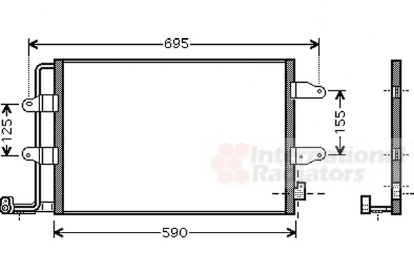 Condenseur, climatisation - VAN WEZEL - 58005252