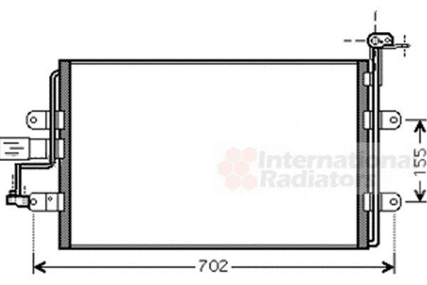 Condenseur, climatisation - VAN WEZEL - 58005262