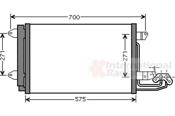 Condenseur, climatisation - VAN WEZEL - 58005269