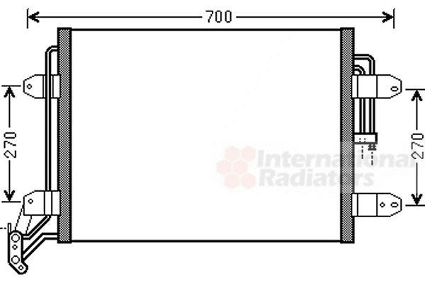 Condenseur, climatisation - VAN WEZEL - 58005291