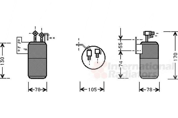 Filtre déshydratant, climatisation - VAN WEZEL - 5800D017
