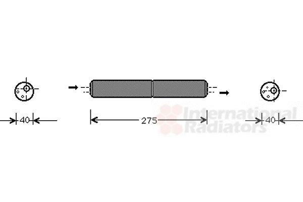 Filtre déshydratant, climatisation - VAN WEZEL - 5800D021