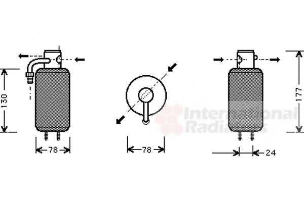 Filtre déshydratant, climatisation - VAN WEZEL - 5800D051