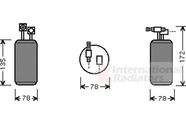 Filtre déshydratant, climatisation - VAN WEZEL - 5800D052