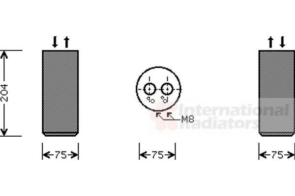 Filtre déshydratant, climatisation - VAN WEZEL - 5800D053