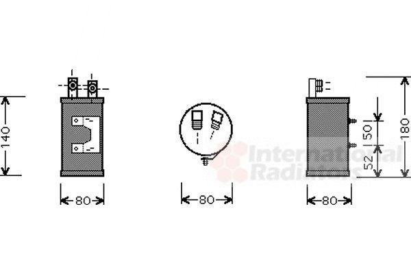 Filtre déshydratant, climatisation - VAN WEZEL - 5800D065