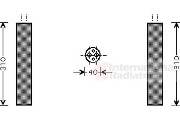 Filtre déshydratant, climatisation - VAN WEZEL - 5800D073