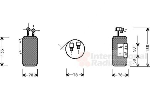 Filtre déshydratant, climatisation - VAN WEZEL - 5800D169