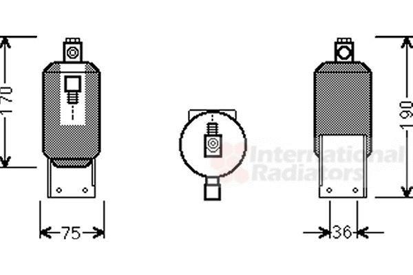 Filtre déshydratant, climatisation - VWA - 88VWA5800D292