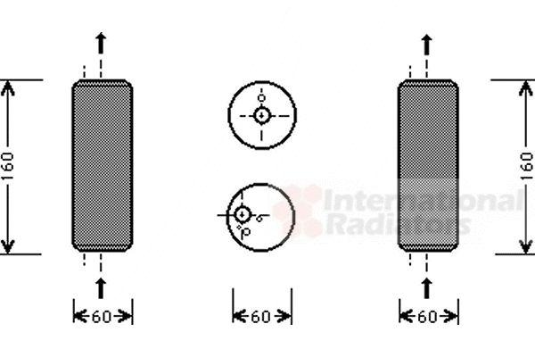 Filtre déshydratant, climatisation - VAN WEZEL - 5800D293