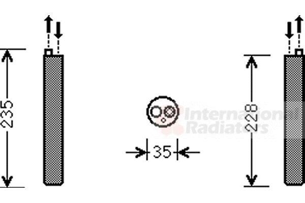 Filtre déshydratant, climatisation - VAN WEZEL - 5800D297