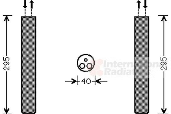 Filtre déshydratant, climatisation - VAN WEZEL - 5800D304