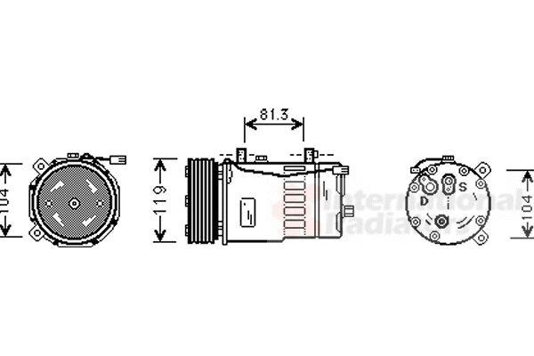 Compresseur, climatisation - VAN WEZEL - 5800K046