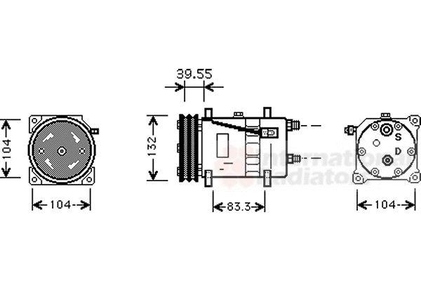 Compresseur, climatisation - VAN WEZEL - 5800K074