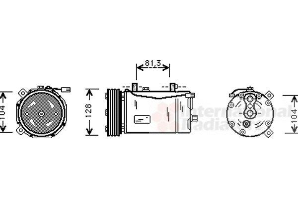 Compresseur, climatisation - VAN WEZEL - 5800K164