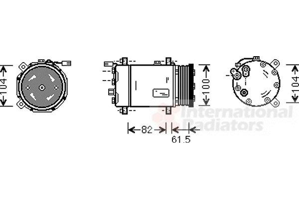Compresseur, climatisation - VAN WEZEL - 5800K167