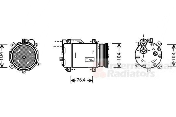 Compresseur, climatisation - VAN WEZEL - 5800K170