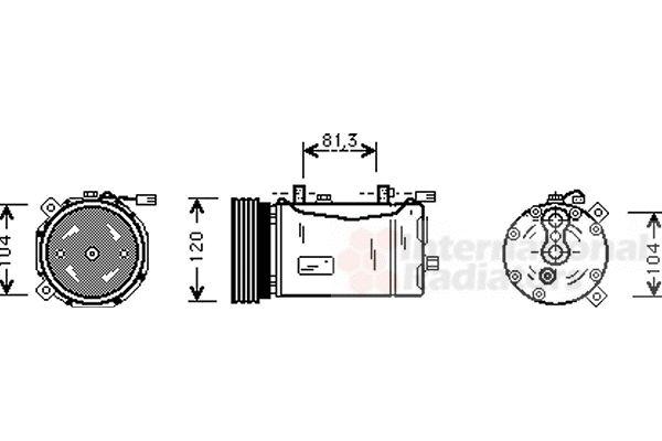 Compresseur, climatisation - VAN WEZEL - 5800K172