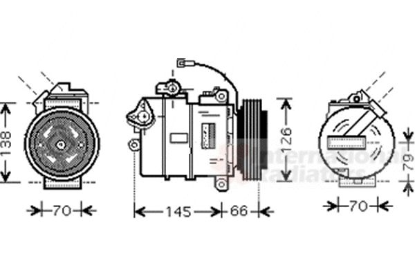 Compresseur, climatisation - VAN WEZEL - 5800K261