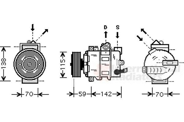 Compresseur, climatisation - VAN WEZEL - 5800K284